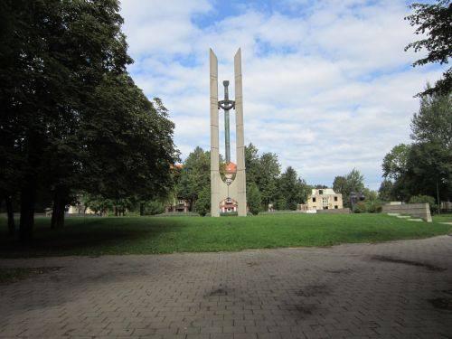 Der Begräbnisort der sowjetischen Soldaten des II. Weltkrieges