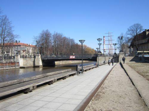 Die Birzos (Börse) Brücke, 2013.